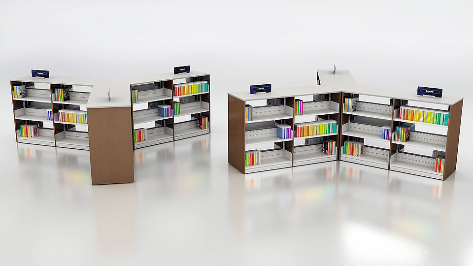 Library Shelving And Furniture Ven Rez Made In Canada Quality