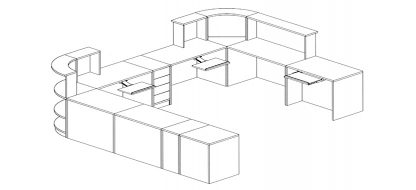 Autocad Circ Desk (LIbrary)