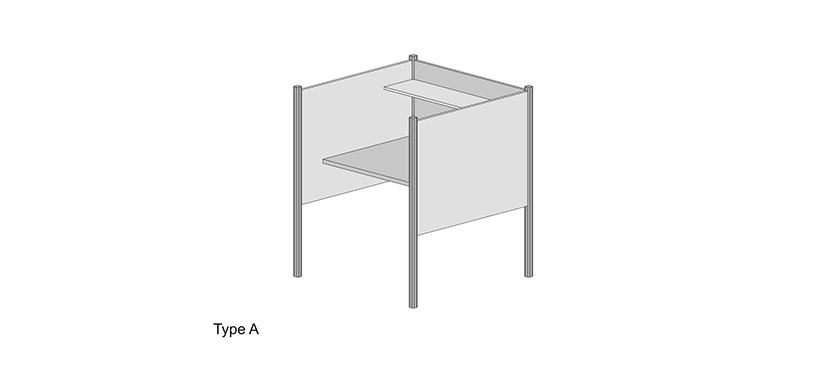 Study Carrel System Type A (Library)