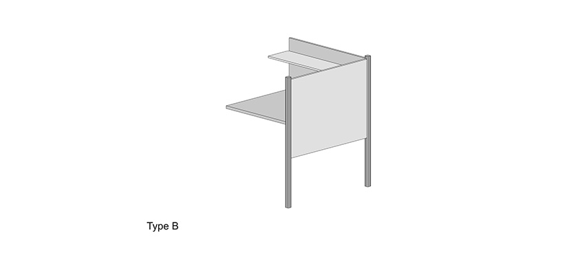 Study Carrel System Type B (Library)
