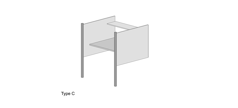 Study Carrel System Type C (Library)