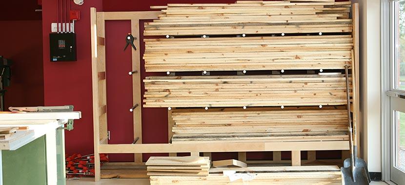 Industrial Lumber Storage Rack