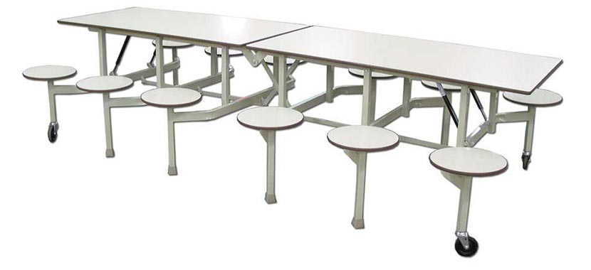 Genial Bench Cafeteria Tables