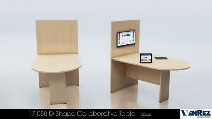 53 Series Collaborative D-Shape Table