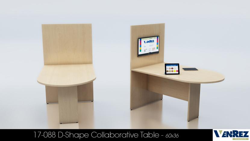 53 Series Collaborative D Shape Table