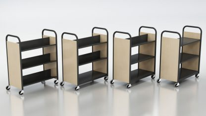 Horizon Steel Laminate Book Trucks