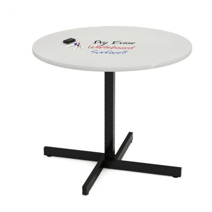 18 Series Round Cross Base Table Whiteboard Surface